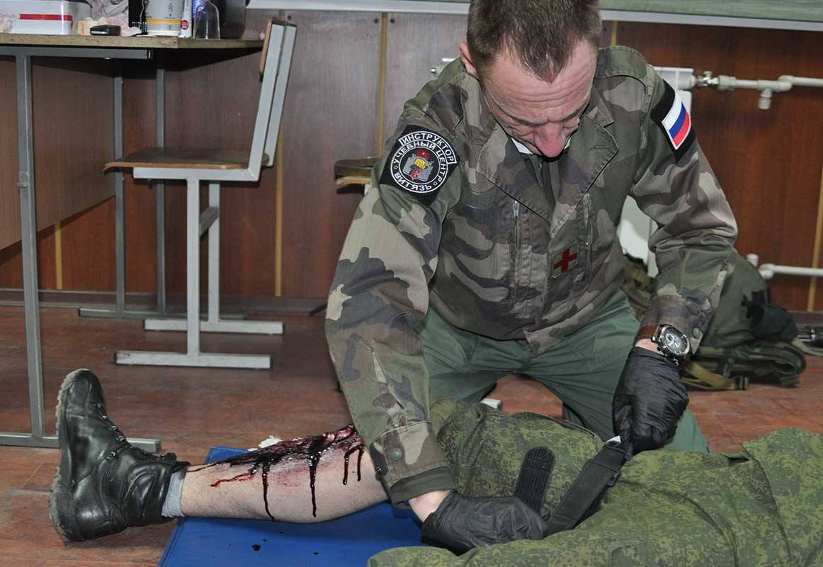 Остановка кровотечения при ранении конечности