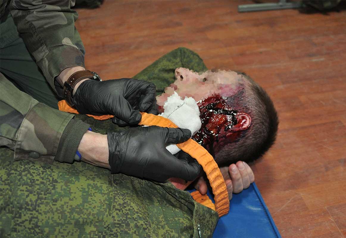 первая помощь при ранении в челюсть