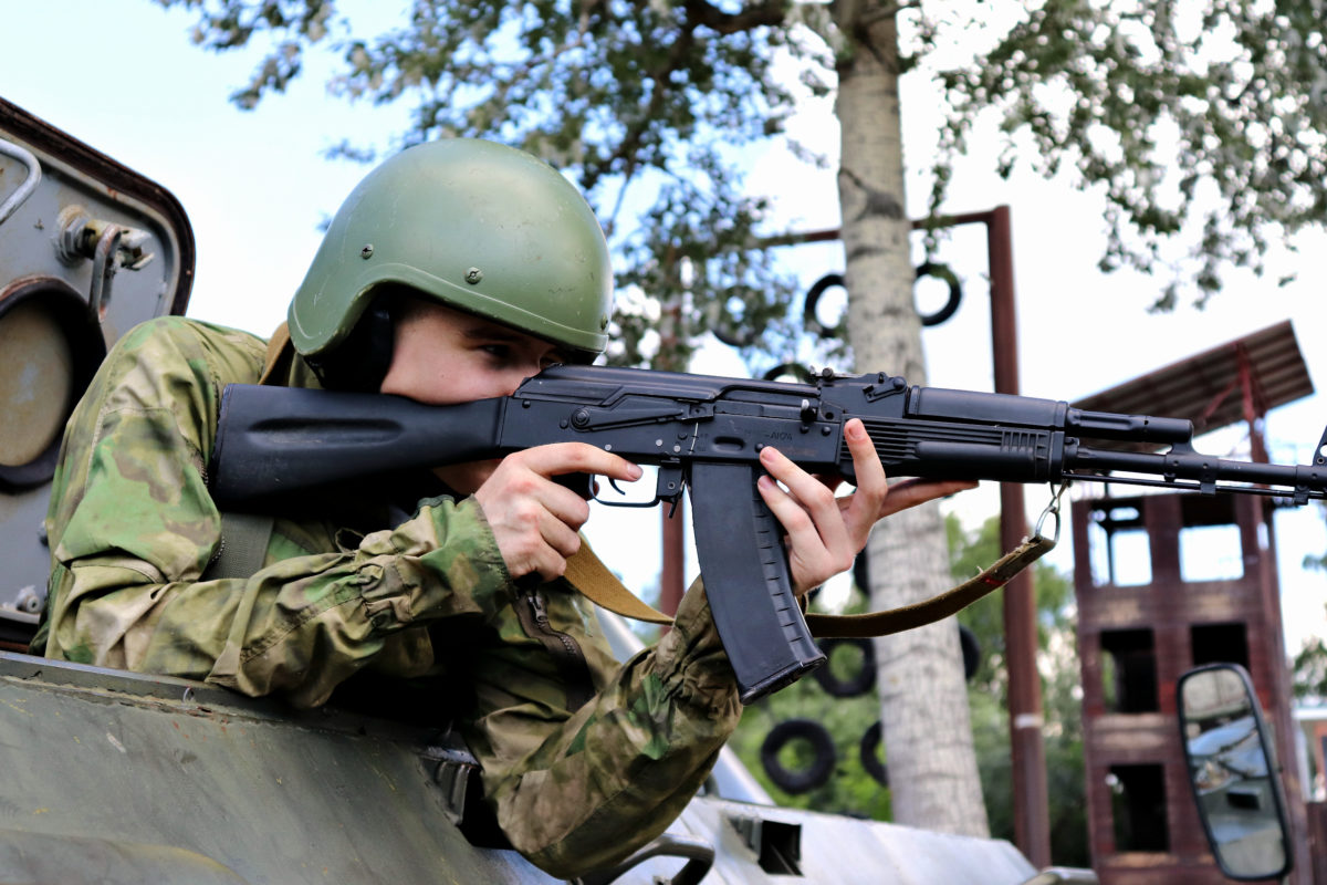 Занятия на военной технике