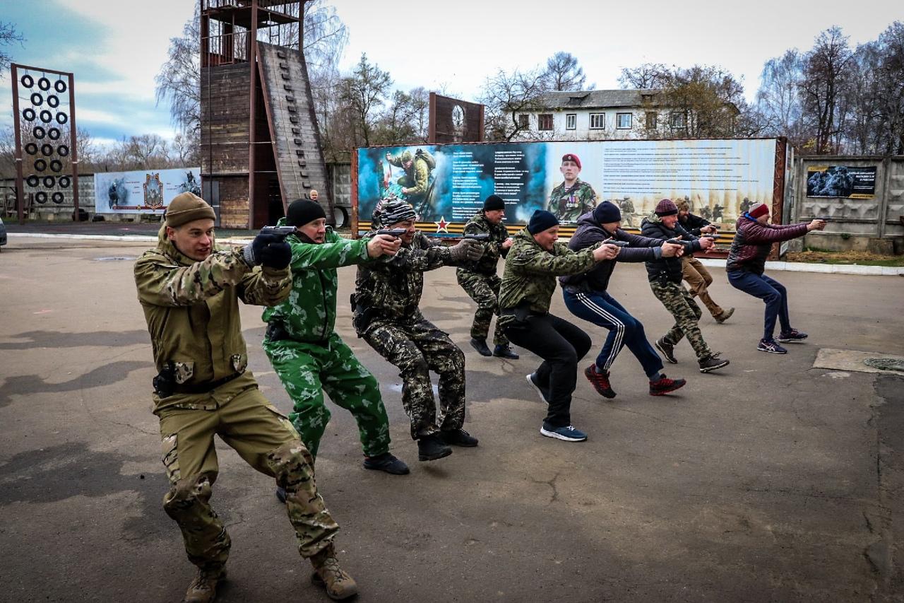 Занятия у телохранителей